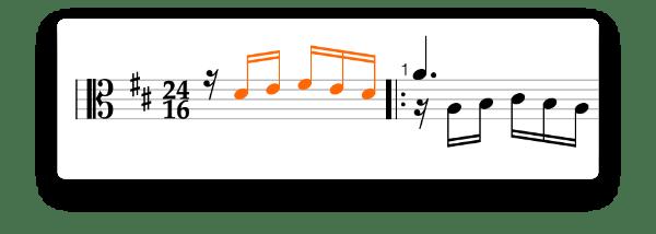 Anacrusis example