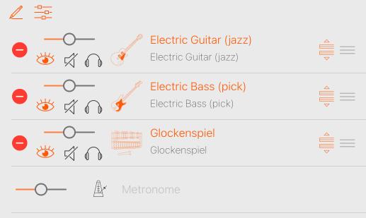 Reordering instruments in Tracks navigator