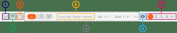 Elements of Status panel