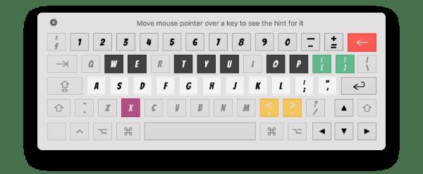 Musical typing keyboard