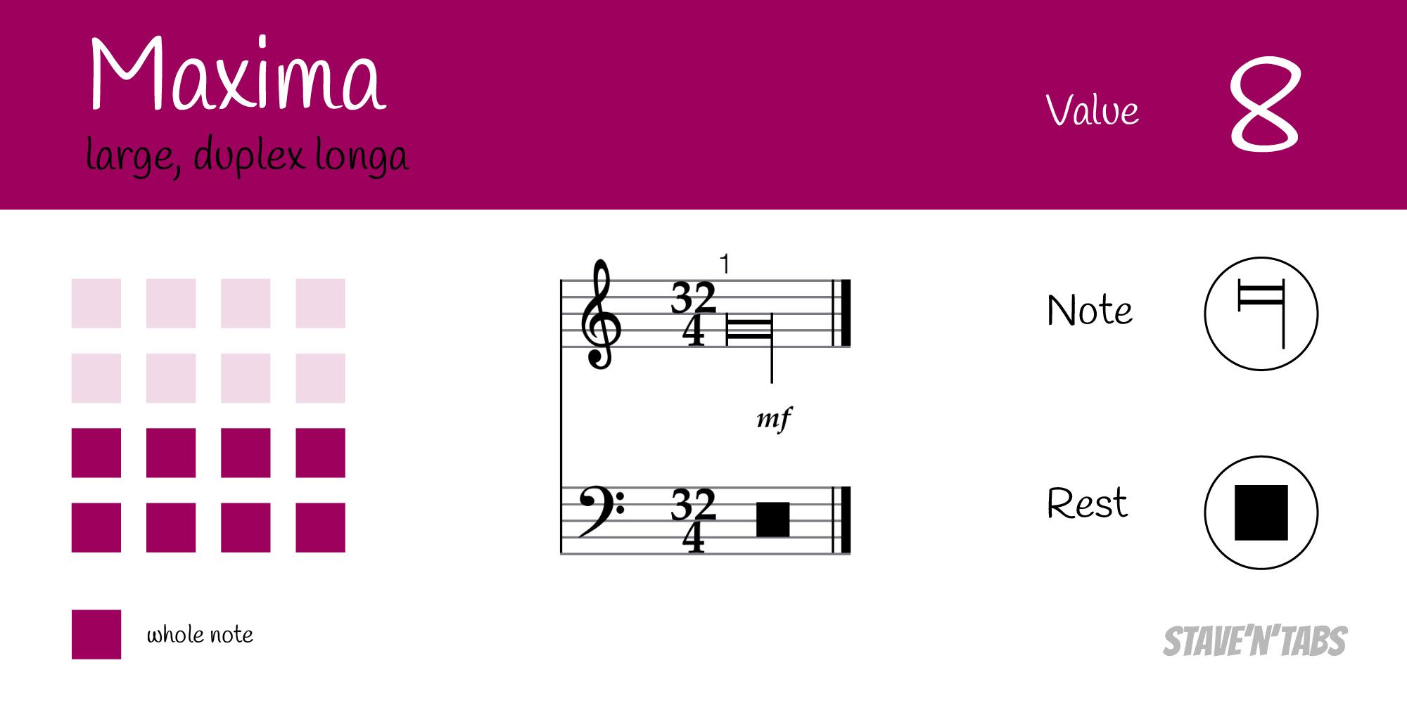 Maxima - Octuple whole note (8)