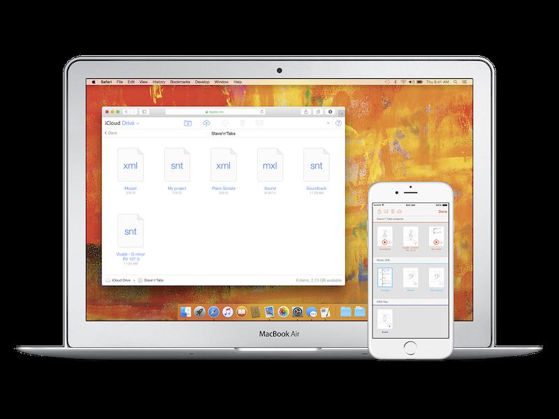 Stave'n'Tabs 2.1: iCloud Drive Sync