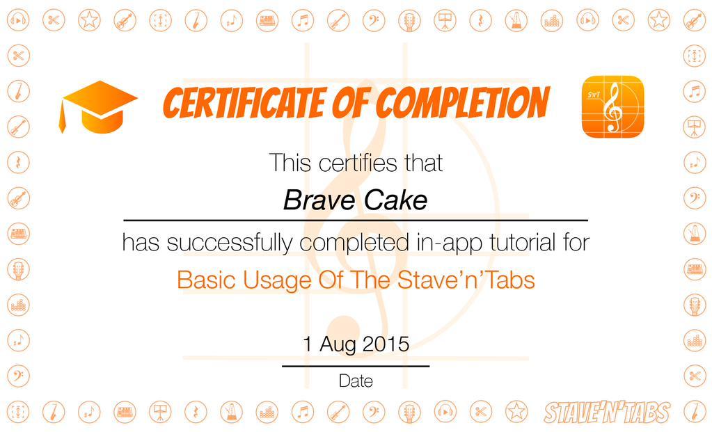 Stave'n'Tabs 2.2: Certificate