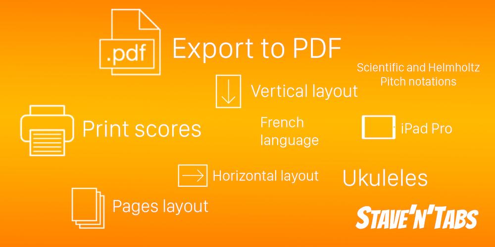 Stave'n'Tabs 2.6: Export to PDF