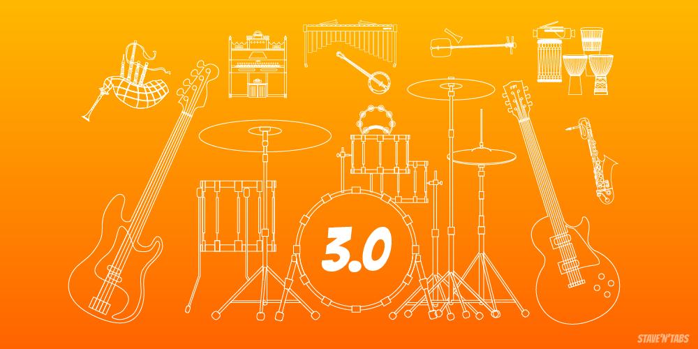 Stave'n'Tabs 3.0: Drum Kit