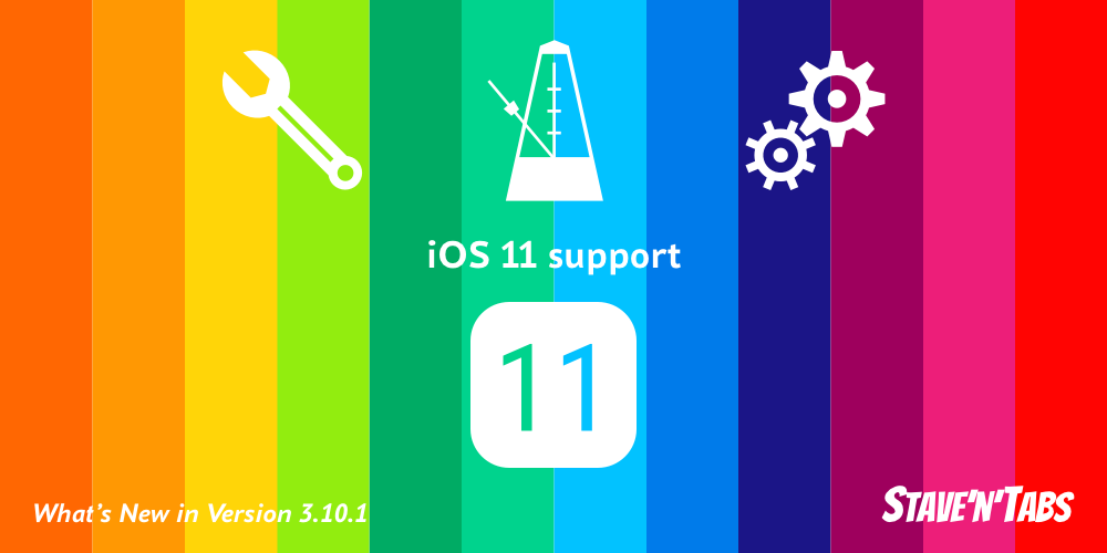 Stave'n'Tabs 3.10.1: iOS 11 support