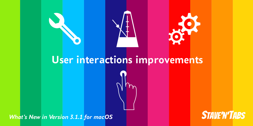 Stave'n'Tabs macOS 3.1.1: Minor user interactions improvements